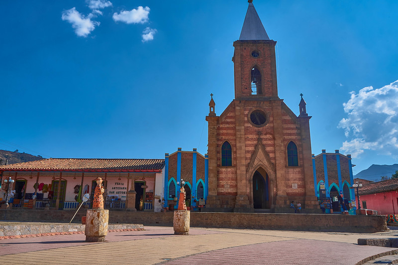 Church in Ráquira, Colombia