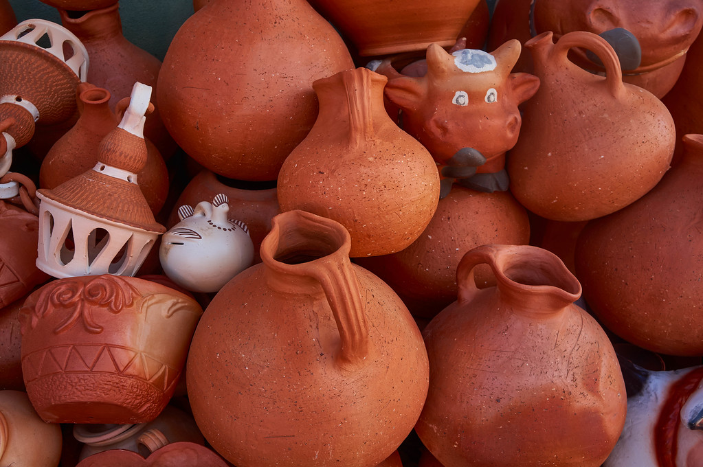 Pottery in Ráquira, Colombia