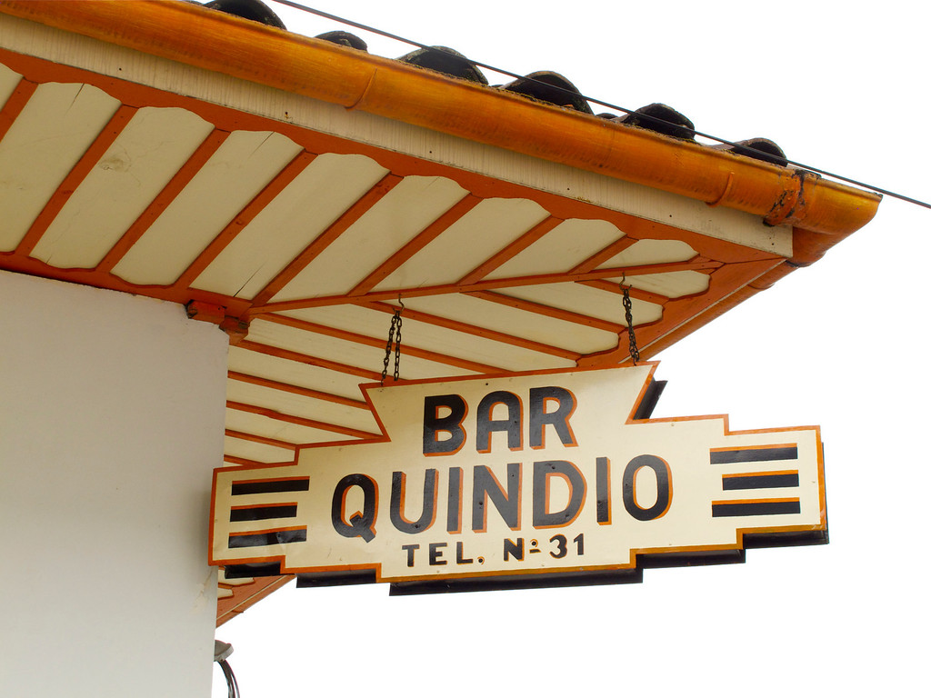 Bar Quindio in Salento (Quindio), Colombia