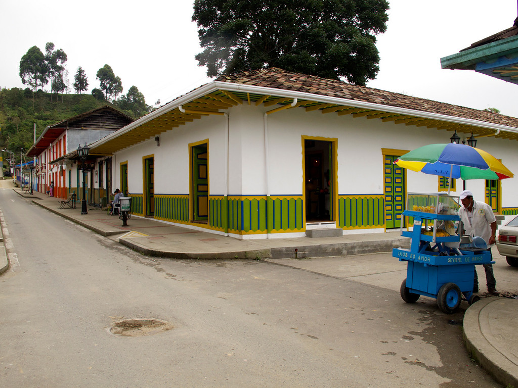 A corner in Salento (Quindio), Colombia