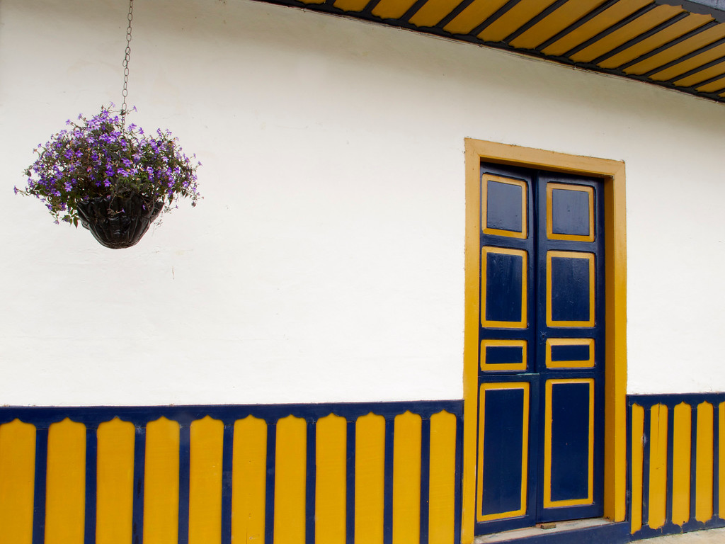 Typical house in Salento (Quindio), Colombia