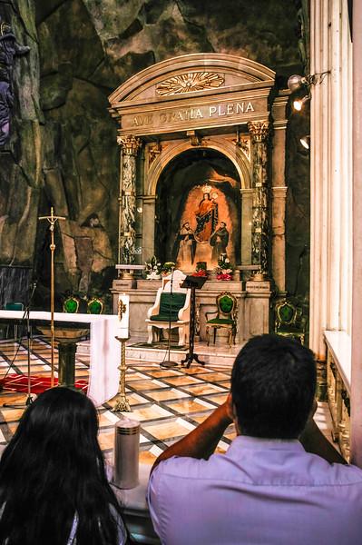 Altar at the Santuario de las Lajas in Colombia