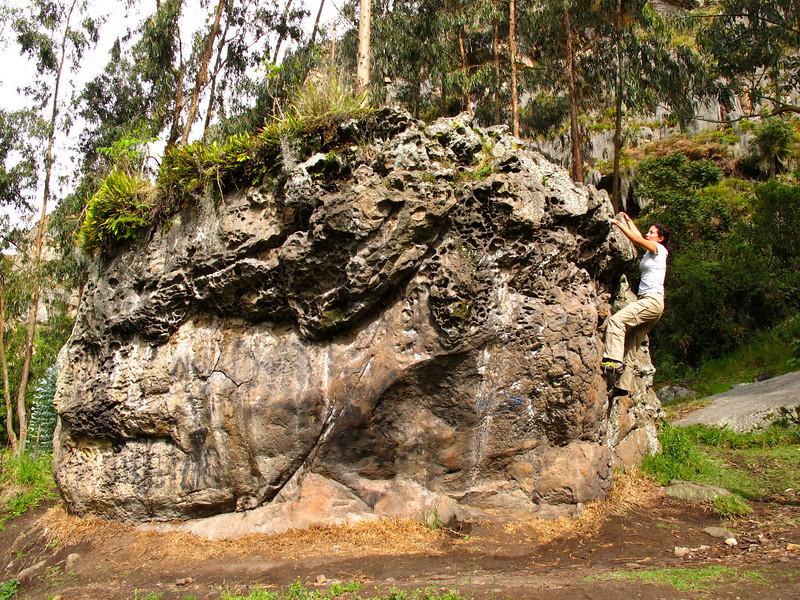 Bouldering in Suesca, Colombia
