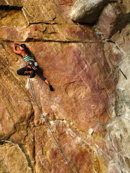 Rock climbing in Suesca, Colombia