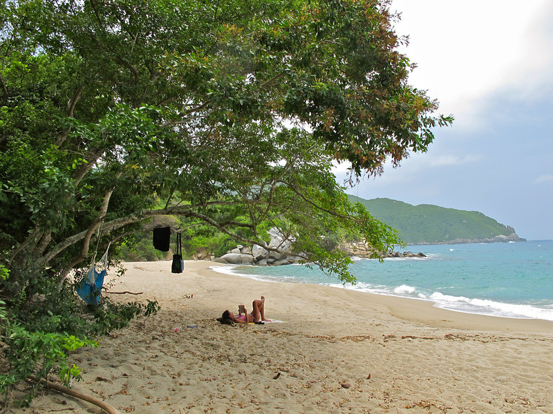 """Chilling out in Tayrona National Park (Colombia) For the story, check out my post: <a href=""""http://www.nomadbiba.com/wp/2011/09/tayrona-national-park-saving-the-best-for-last/""""> Tayrona National Park – Saving The Best For Last</a>"""