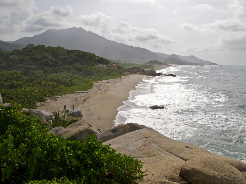 """Arriving at the beach in Tayrona National Park (Colombia) For the story, check out my post: <a href=""""http://www.nomadbiba.com/wp/2011/09/tayrona-national-park-saving-the-best-for-last/""""> Tayrona National Park – Saving The Best For Last</a>"""