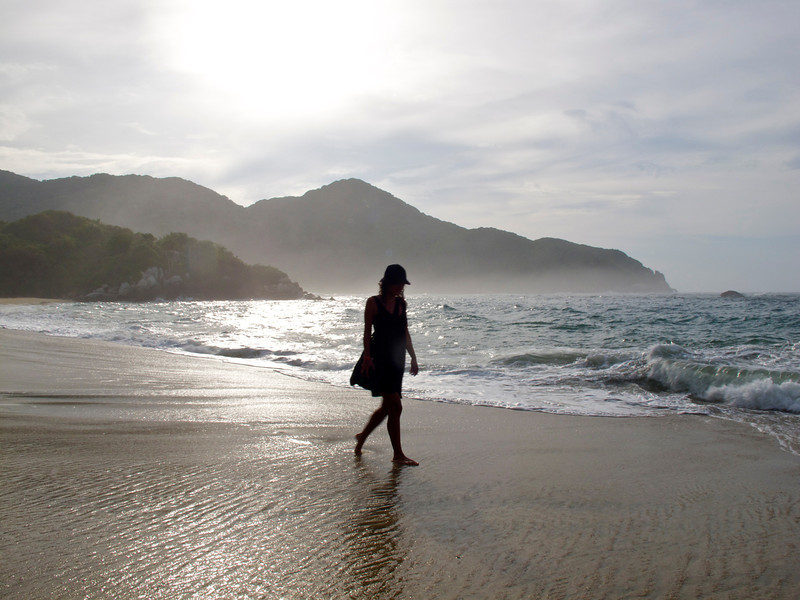 """Enjoying a walk in Tayrona National Park (Colombia) For the story, check out my post: <a href=""""http://www.nomadbiba.com/wp/2011/09/tayrona-national-park-saving-the-best-for-last/""""> Tayrona National Park – Saving The Best For Last</a>"""