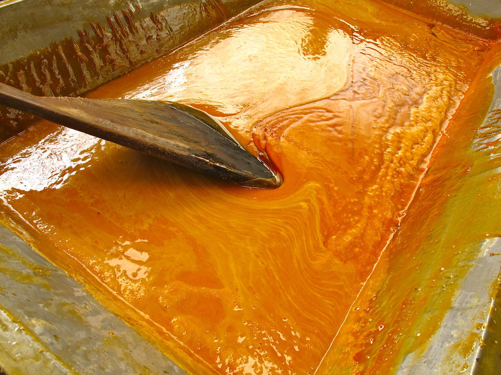 """Caramel For the full story, check out: <a href=""""http://www.nomadbiba.com/wp/2011/06/panela-the-purest-sweetness-from-the-cane/""""> Panela – The Purest Sweetness From The Cane</a>"""