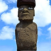 Eyes were only added to the moai after they reached their ahu - the eyes are thought to represent a deified ancestor