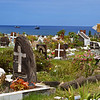 The island's colorful cemetery - at night it was lit by hundreds of votive candles