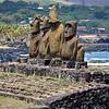 Moai at Tahai