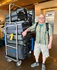 Phil, with dive luggage, at Holiday Inn, Guayaquil, Ecuador