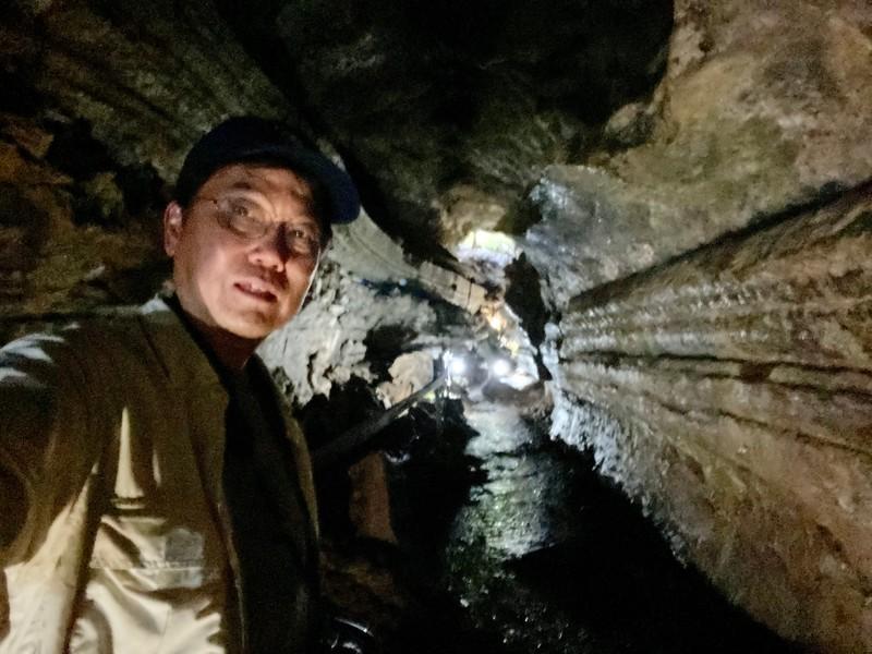 inside lava tunnel