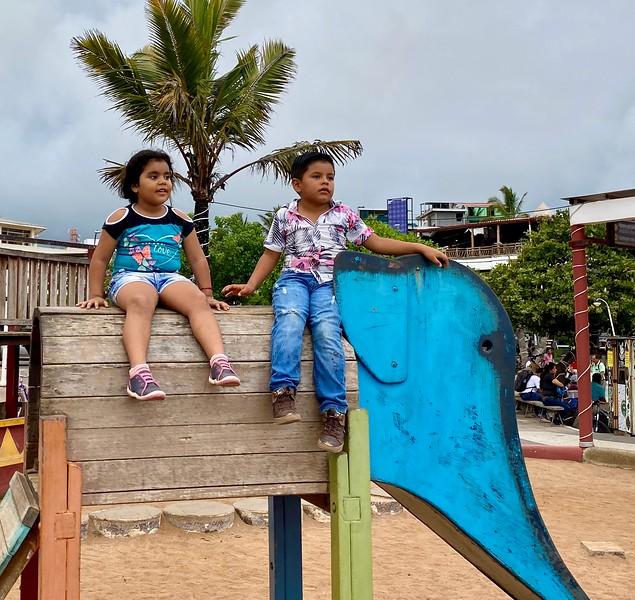 Kids playing at Santa Cruz Harbor