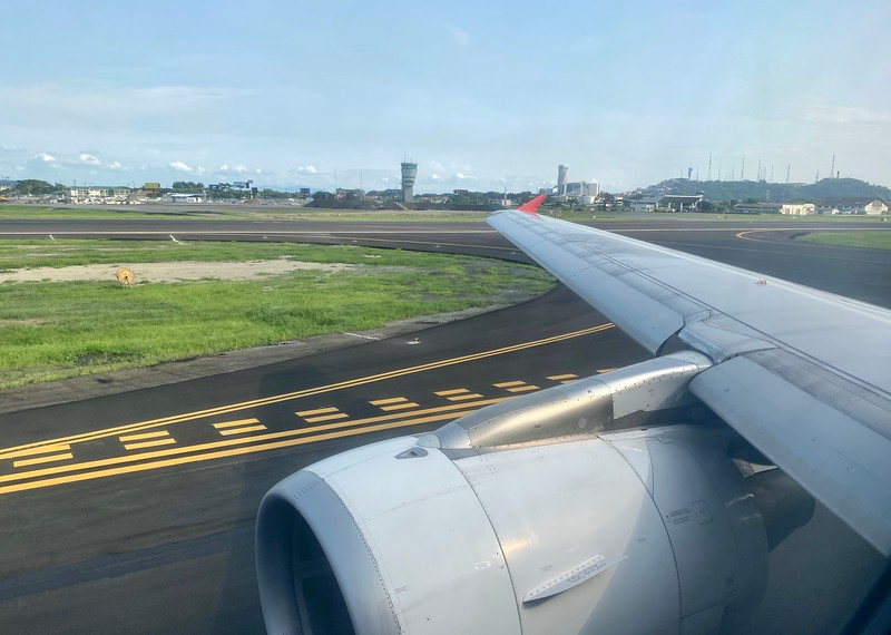 Landing at Guayaquil Airport