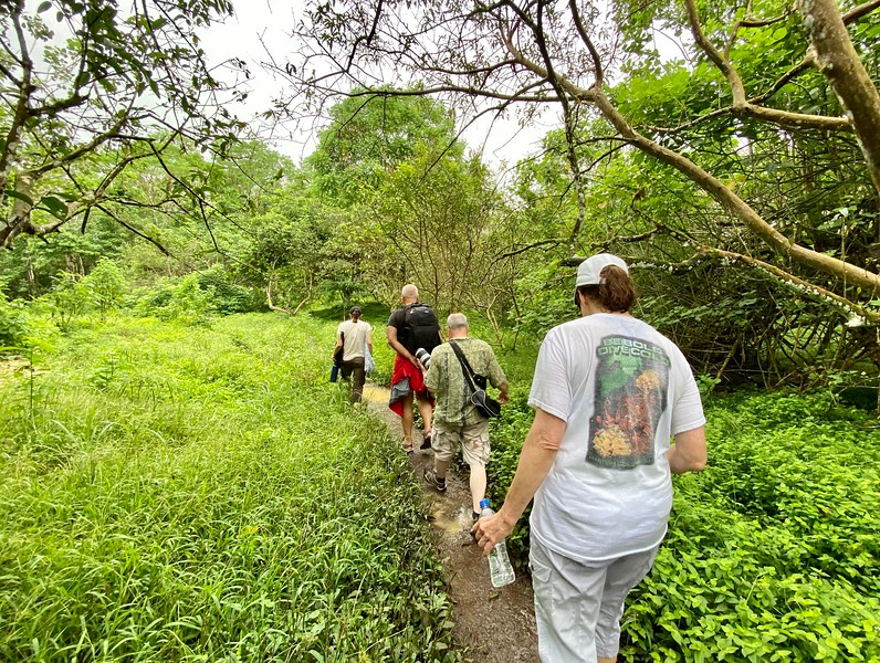 Ali leads the way. El Chato Ranch, Giant Tortoise Reserve