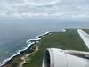 Santa Cruz coastline on takeoff from SCY.