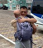Young gives Juan Carlos a farewell embrace