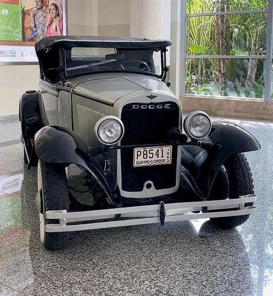 Old Dodge car on display at GYE