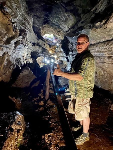 Phil inside lava tunnel