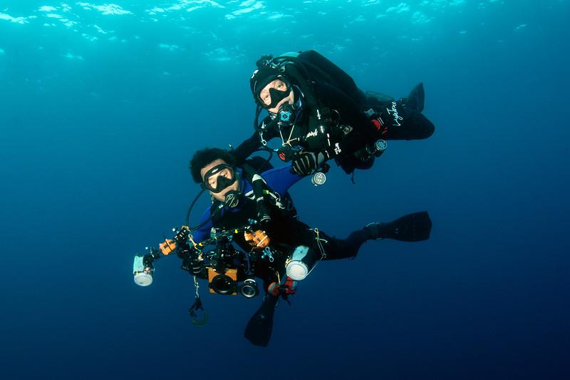 Galapagos Nudie Tag-Team: Alicia Hermosillo McKowen & Kevin Lee<br /> Photo by Phil Garner