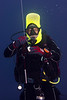 Juan Carlos, divemaster, was easy to spot with his inflated head gear!