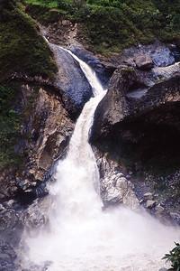 Rio Pastaza waterfall near Banos