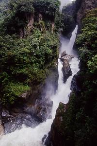 Pailon del Diablo - waterfall near Banos