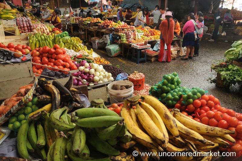 Fruit and Vegetables at Feria Libre - Cuenca, Ecuador