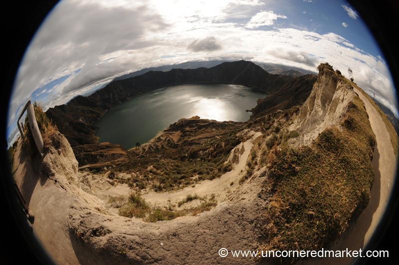 Lake Quilotoa in Fisheye - Ecuador