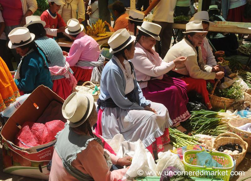 Veggies and Hats - Chordeleg, Ecuador