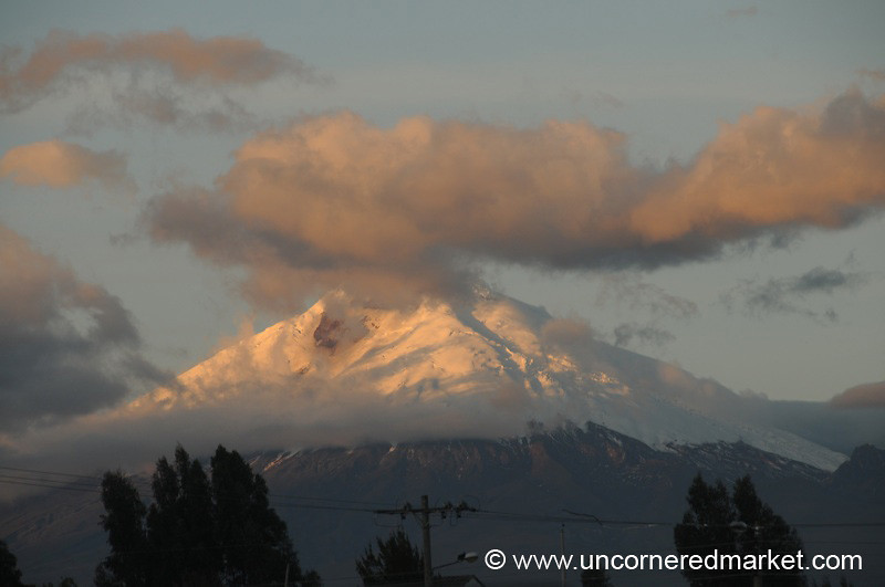 Snow-Covered Cotopaxi - Saquisili, Ecuador