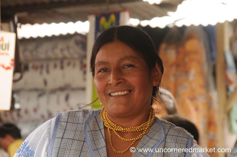 Friendly Fruit Vendor - Ibarra, Ecuador