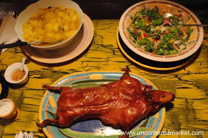 Roasted Cuy (Guinea Pig) - Vilcabamba, Ecuador