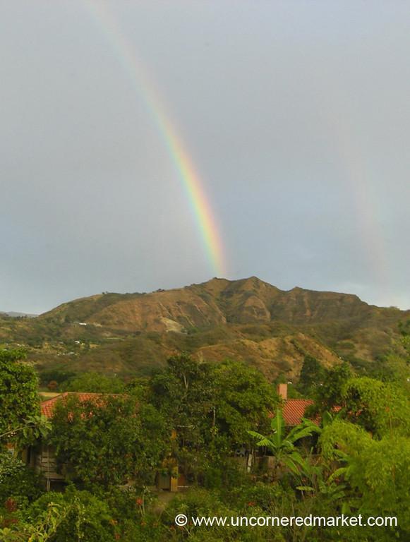 Rainbow on the Way to Vilcabamba, Ecuador