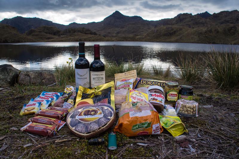 Christmas dinner at El Cajas National Park in Ecuador