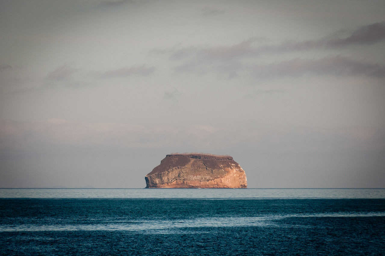 Rock island in the Galapagos Islands