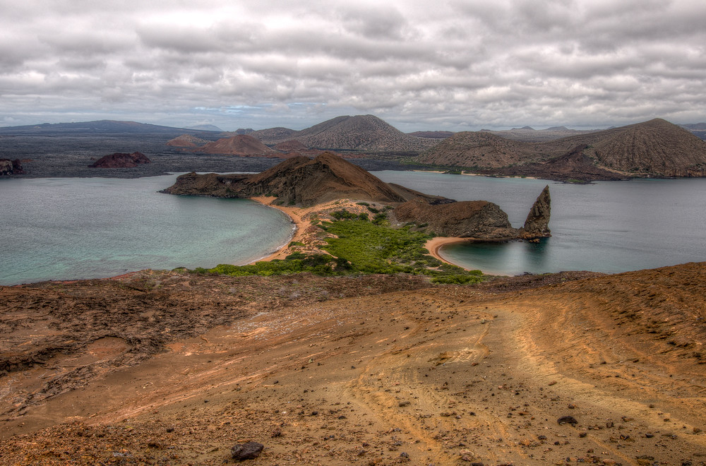 The Island of Bartolome in the Galapagos Islands