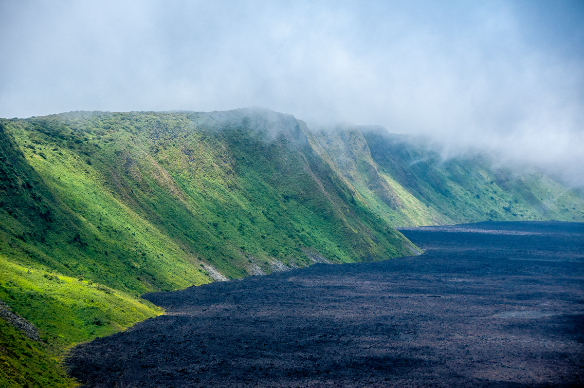 Inside the Sierra Negra Volcano on the Island of Isabela, Galapagos