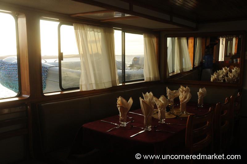 Dinnertime Aboard - Galapagos Islands