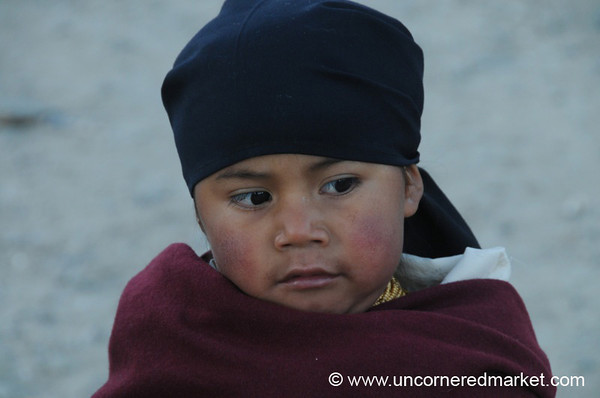 Young One at the Otavalo Market - Ecuador