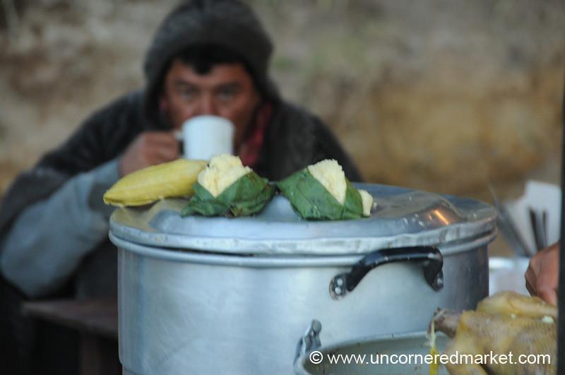 Breakfast at Saturday Market in Otavalo, Ecuador