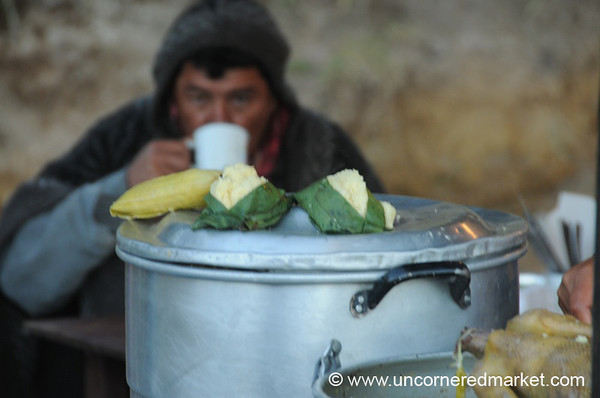 Breakfast at Saturday Market in Otavalo, Ecuador