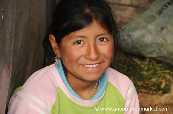 Sweet Smile - Otavalo Market, Ecuador