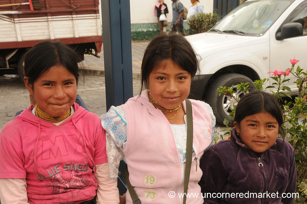 Young Vendors - Otavalo Market, Ecuador