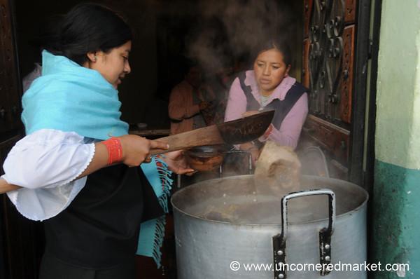 Morning Soup With Animal Bits - Otavalo Market, Ecuador