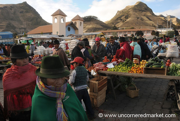 Saturday Market in Zumbahua, Ecuador