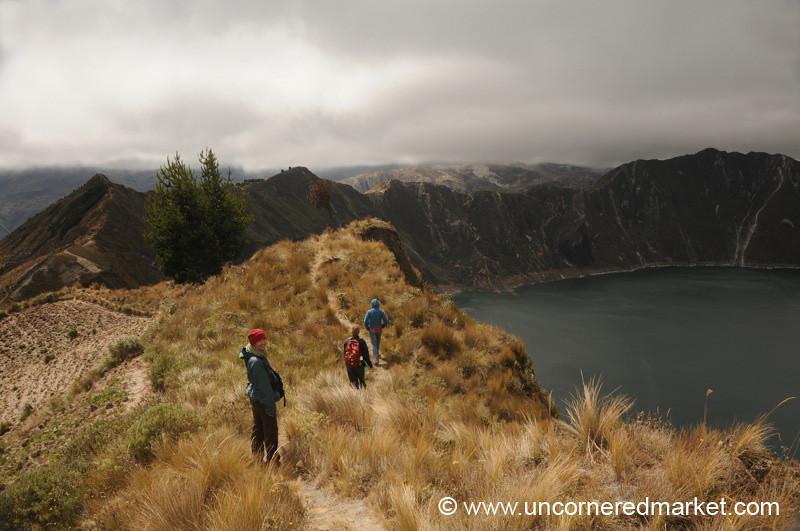 Hiking Along Lake Quilotoa - Quilotoa Loop, Ecuador