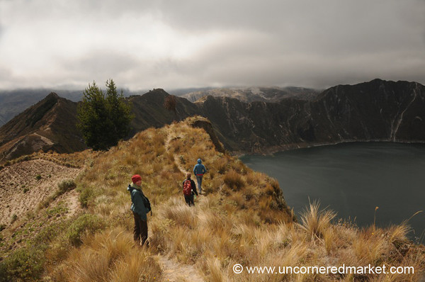 Hiking Along Lake Quilotoa - Quilotoa Loop, Ecuador