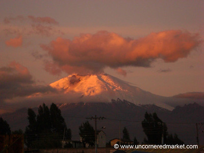 Dusk View of Cotopaxi Volcano - Saquisili, Ecuador